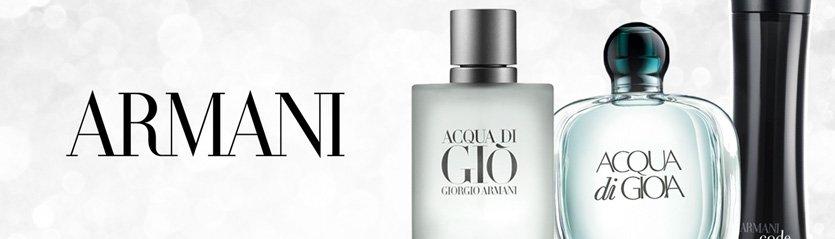 Armani Perfume Brand Banner